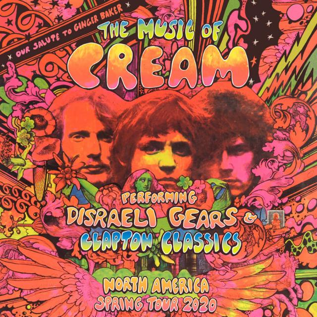 MUSIC OF CREAM TOUR POSTER