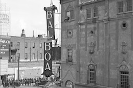Photo of the Balboa Theatre under construction in the early 1900s